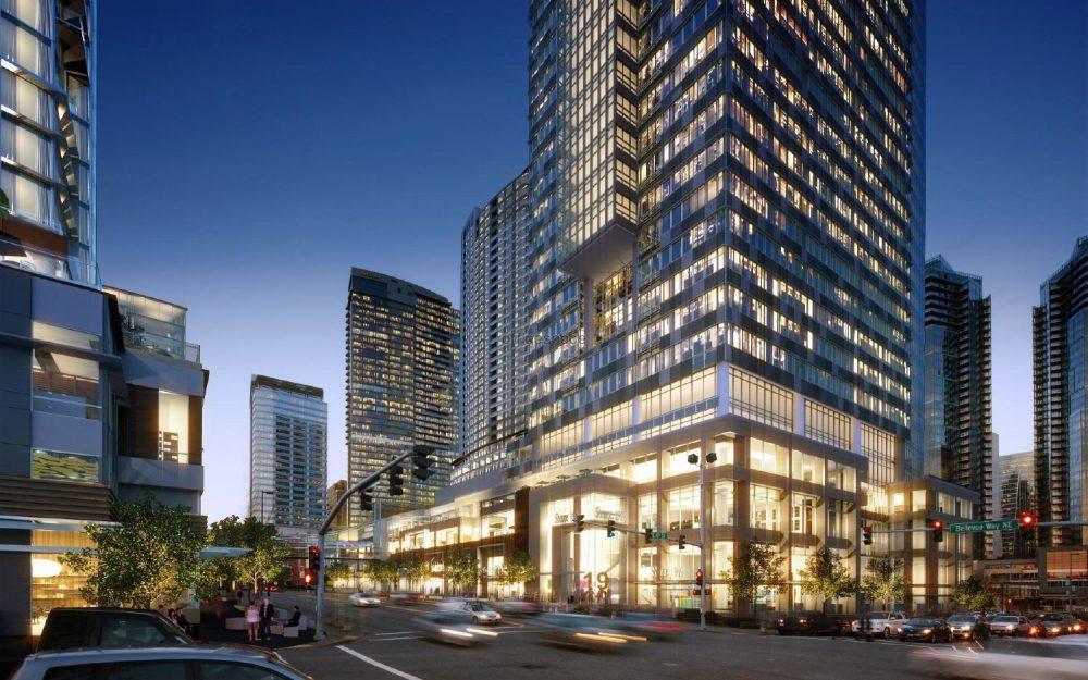 Bellevue Towers, a high rise condominium complex in downtown Bellevue, Washington