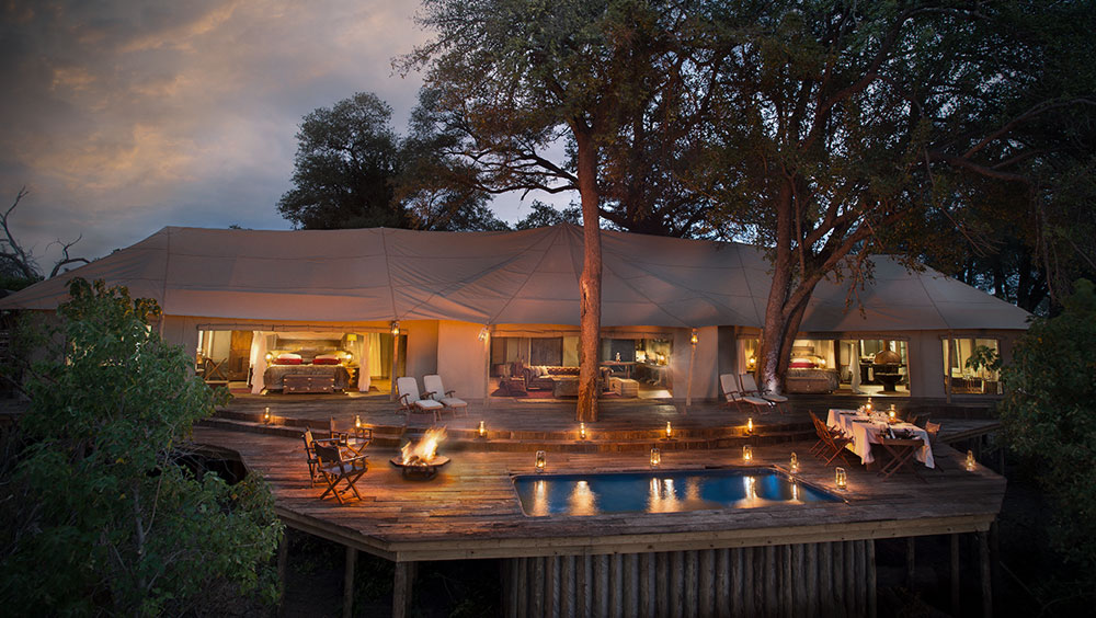 Luxury Experiences   Zarafa Dhow Suite, Luxury Safari Lodge, Selinda Reserve, Botswana