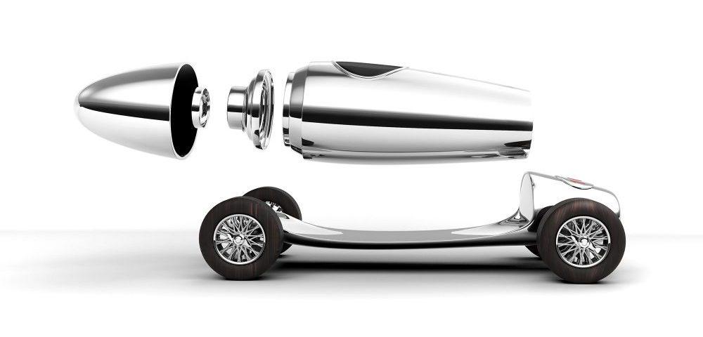 Asprey Gumball 3000 Racing Car Cocktail Shaker