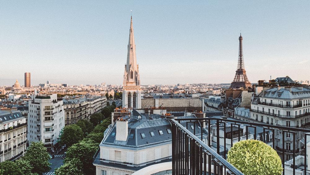 Luxury Experiences   Four Seasons Hotel George V Penthouse, 360-degree views Paris