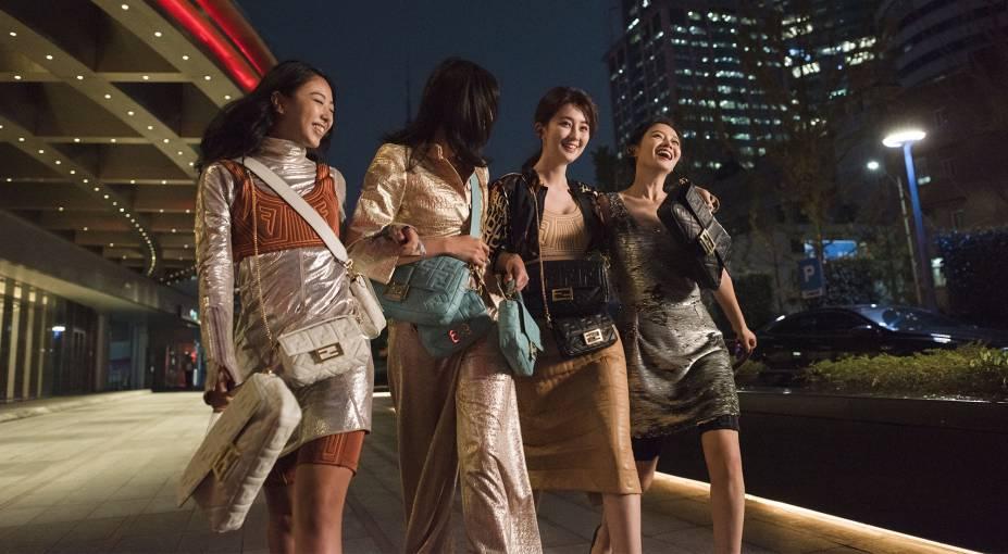 Fendi celebrates the return of its iconic bag, #BaguetteFriendsForever