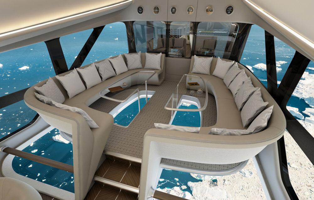 Design Q unveil luxury cabin design for Airlander at Farnborough Air Show