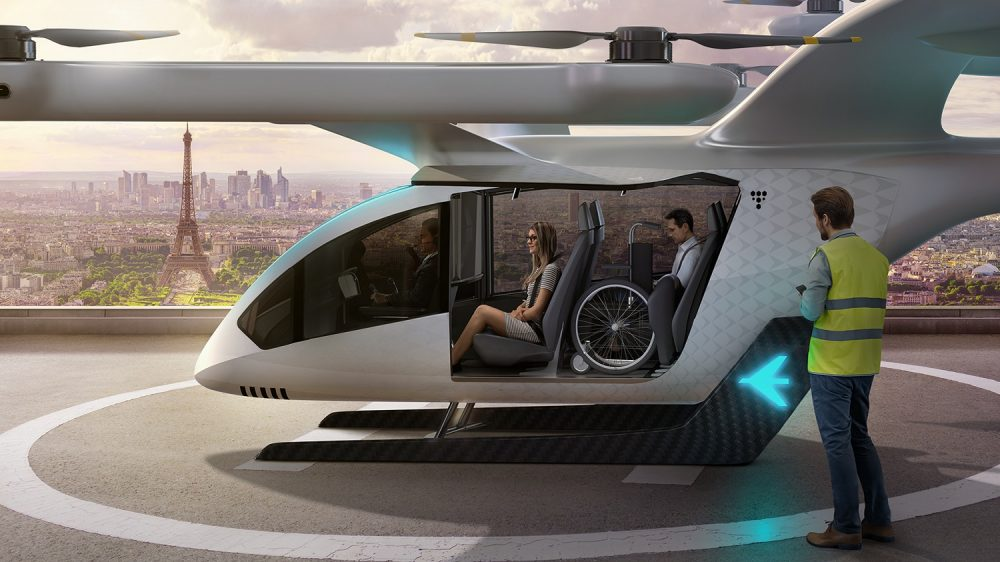 Embraer's new EmbraerX eVTOL concept serves passengers in an urban environment