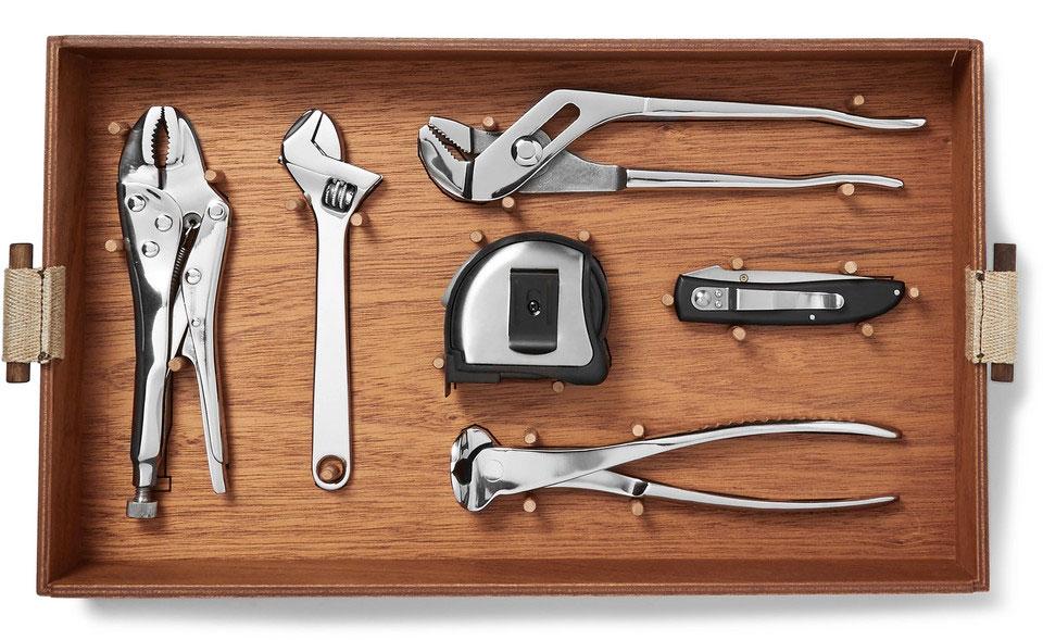 Lorenzi Milano Tool Kit With Mahogany Wood Box