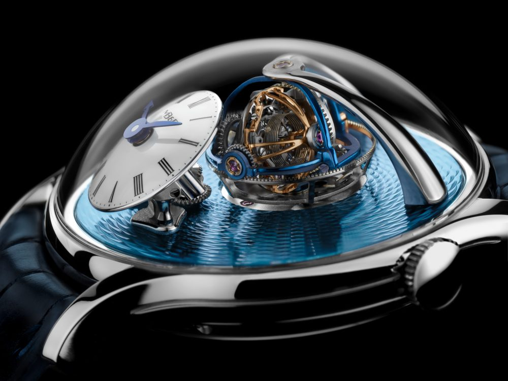 The MB&F Legacy Machine Thunderdome, jointly signed by Eric Coudray and Kari Voutilainen