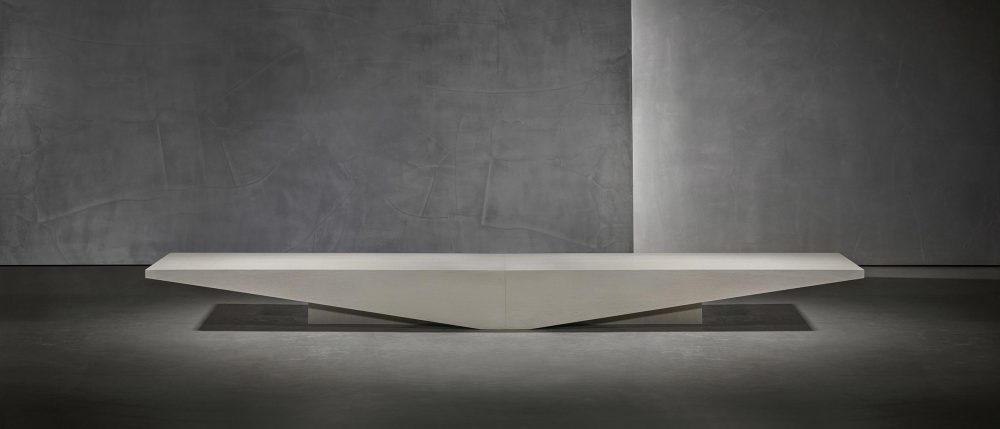 Brutalist architecture with the KOBE coffee table by Studio Pietboon
