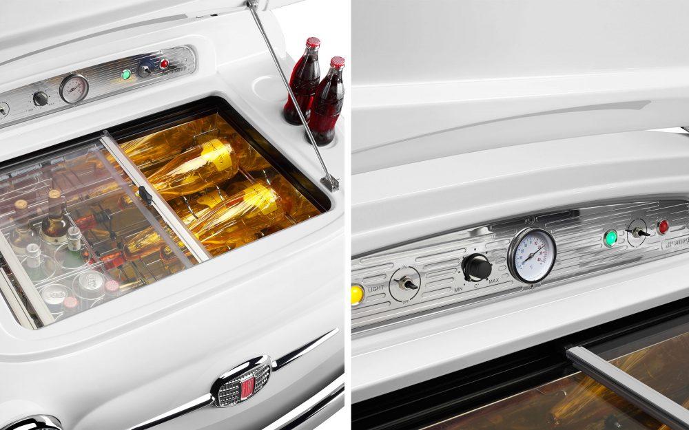 FIAT X SMEG White Electric Cooler, a fashionable statement