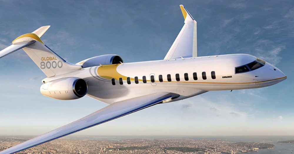 Bombardier Global 8000, travel the world in peace and tranquility
