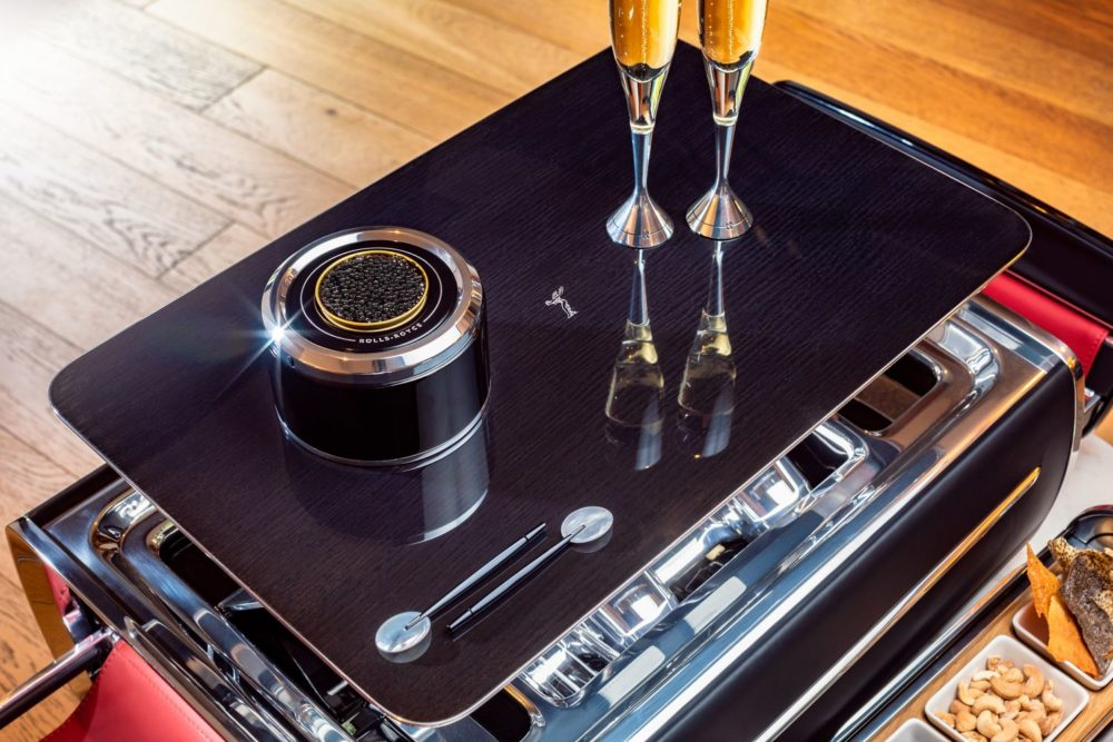 The champagne chest by Rolls-royce Motor Cars is an epicurean delight