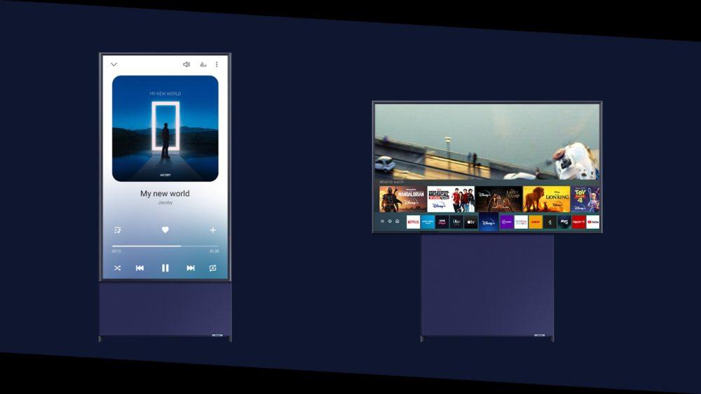 Samsung's Sero TV rotates between landscape and portrait orientations