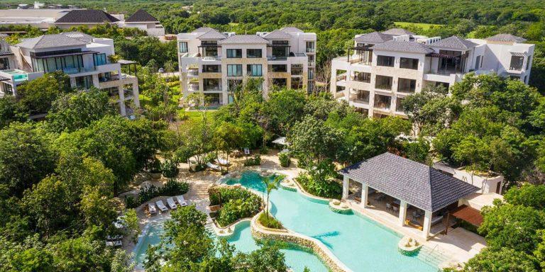 Fairmont Residences, Mayakoba, Mexico, a luxury resort set among lagoons and fairways