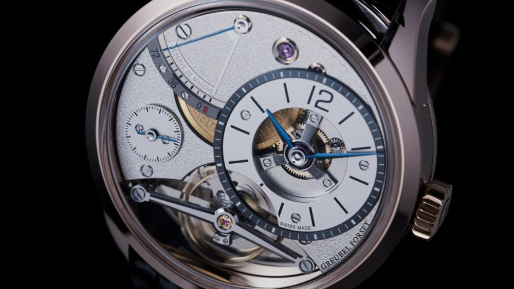 The Balancier Contemporain by Greubel Forsey comes in a new red gold case