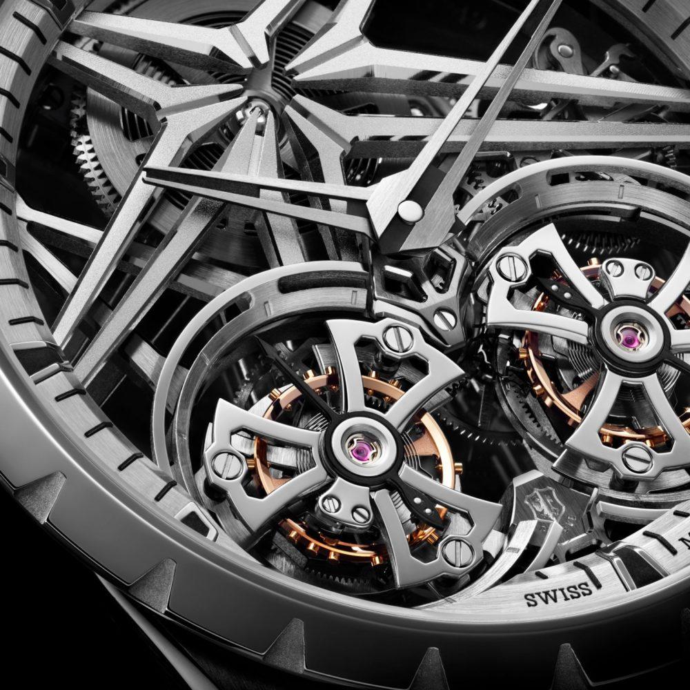 Roger Dubuis Excalibur Skeleton: the brand reinvents its signature double tourbillon