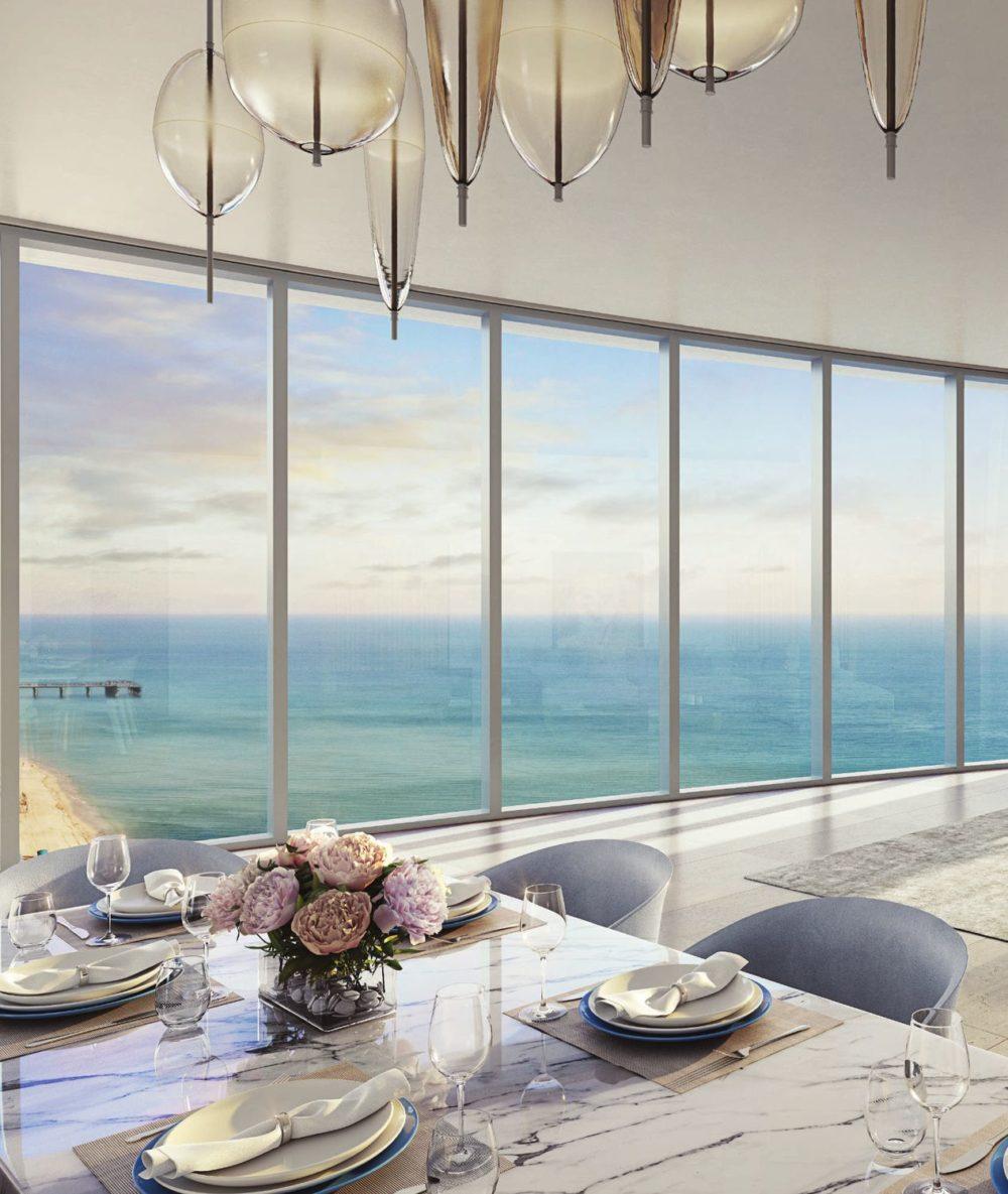 The Ritz-Carlton Residences, Sunny Isles Beach features a signature curvilinear silhouette