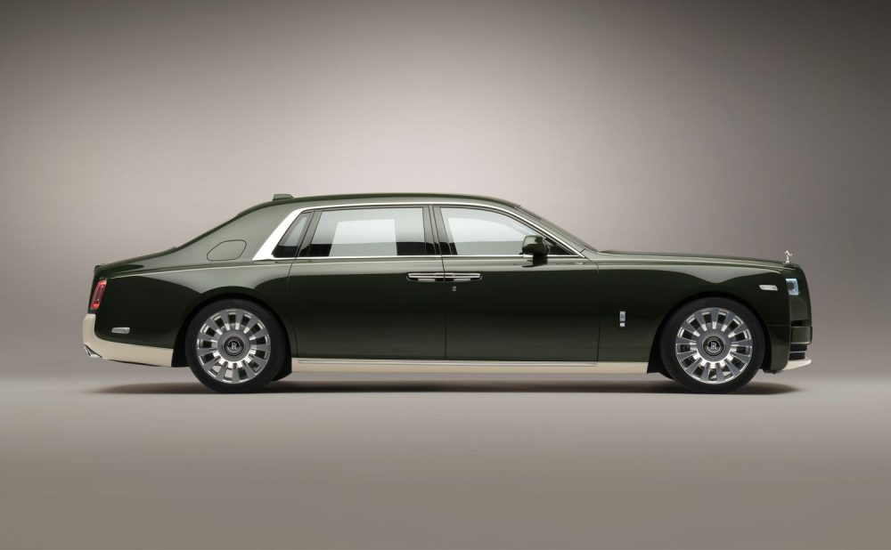 Phantom Oribe is a bespoke Rolls-Royce Phantom in collaboration with Hermès